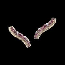 Boucles d'oreilles - Rhodolites Or Rose 18k