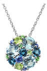 Pointilliste necklace - Blue Topaz 18k White Gold
