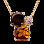 Pavés de Paris necklace - Citrine 18k Yellow Gold