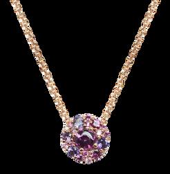 Emotion Rond necklace - Rhodolite 18k Yellow Gold