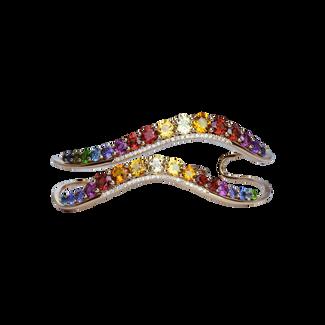 Bracelet Ardèche - Arc-en-ciel Or Rose 18k