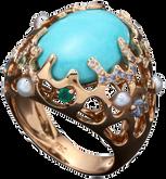 Starfish ring - Turquoise 18k Pink Gold