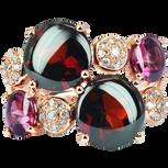 Macarons ring - Garnets 18k Pink Gold