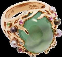 Starfish ring - Prehnite 18k Pink Gold