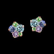 Pointilliste earrings - 18k White Gold