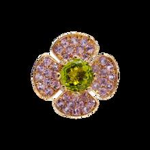 Flora Lotus pendant - Peridot 18k Pink Gold