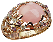 Starfish ring - Pink Opal 18k Pink Gold