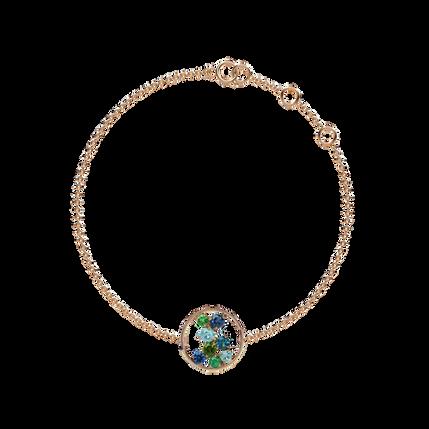 Bracelet Sac de Billes - Iolite Or rose 18k