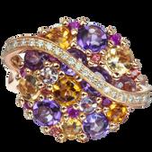 Galaxie ring - Amethysts 18k Pink Gold