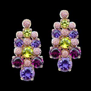 Macarons earrings - 18k Pink Gold