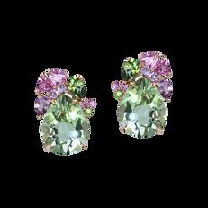 Eden earrings - Green Quartz 18k Pink Gold