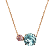 Macarons necklace - Blue Topaz 18k Yellow Gold