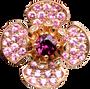 Boucles d'oreilles Flora Lotus - Rhodolite Or Rose 18k