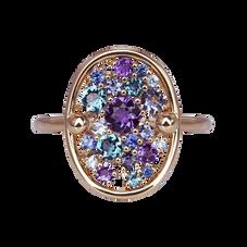 Sac de Billes ring -Amethyst 18k Pink Gold