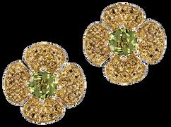 Boucles d'oreilles Flora Lotus - Péridots Or Jaune 18k
