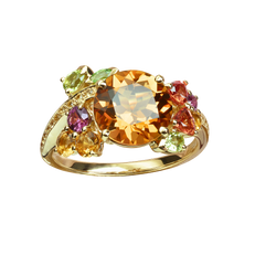 Eden ring - Citrine 18k Yellow Gold