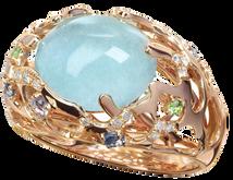 Starfish ring - Blue Topaz 18k Pink Gold