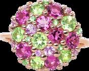Pointilliste ring - Pink Tourmaline 18k Pink Gold