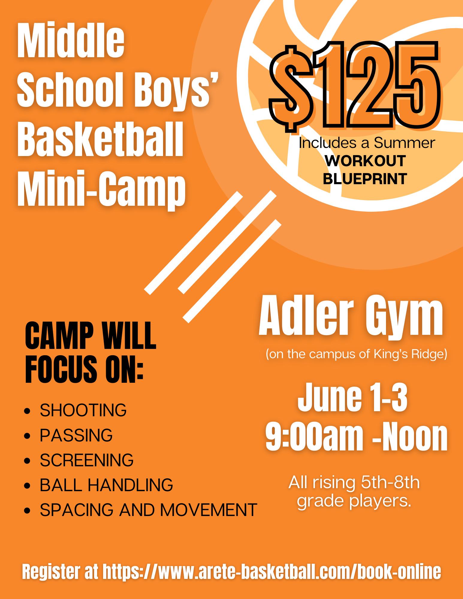 Middle School Boys' Basketball Mini-Camp