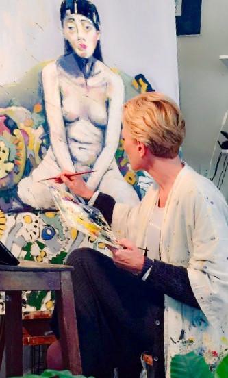 Claire in studio