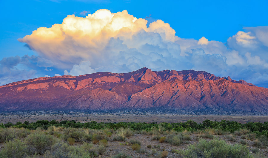 Albuquerque New Mexico Sandia Crest Mountain Range