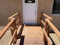 ADA Wheelchair Ramp Remodel After