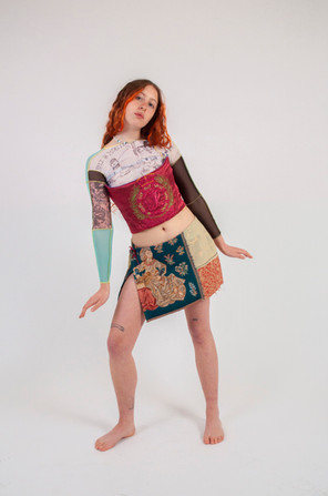 The Rhi & Rosie Top  The Get Out Corset & The Patch Working Skirt
