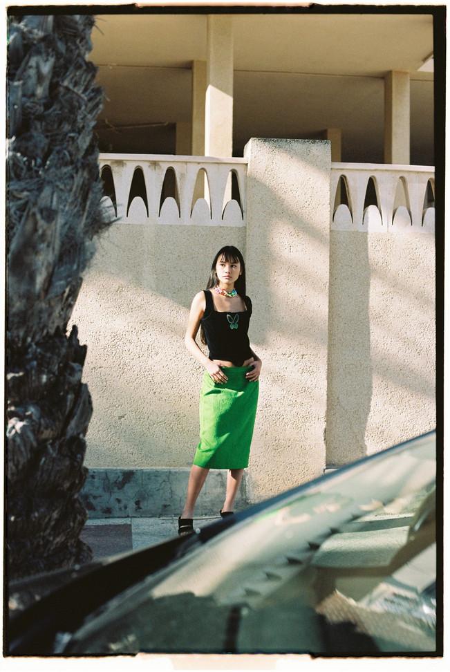 Velvet Control Corset in Les Fleur Magazine  Shot by Pablo Escudero  Styled By Maria Bernad