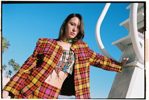Silk Plaid Corset in Les Fleur Magazine  Shot by Pablo Escudero  Styled By Maria Bernad