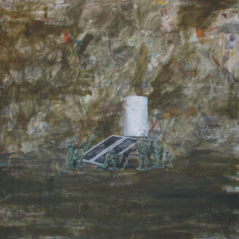 Untitled (soldiers with dud shemesh)