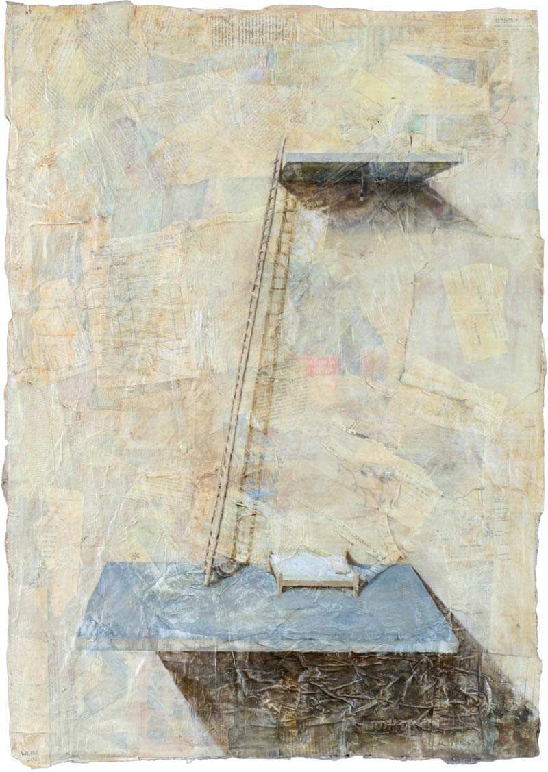 Untitled (bed and ladder)