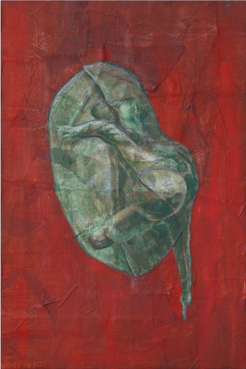 Untitled (soldier on red background)