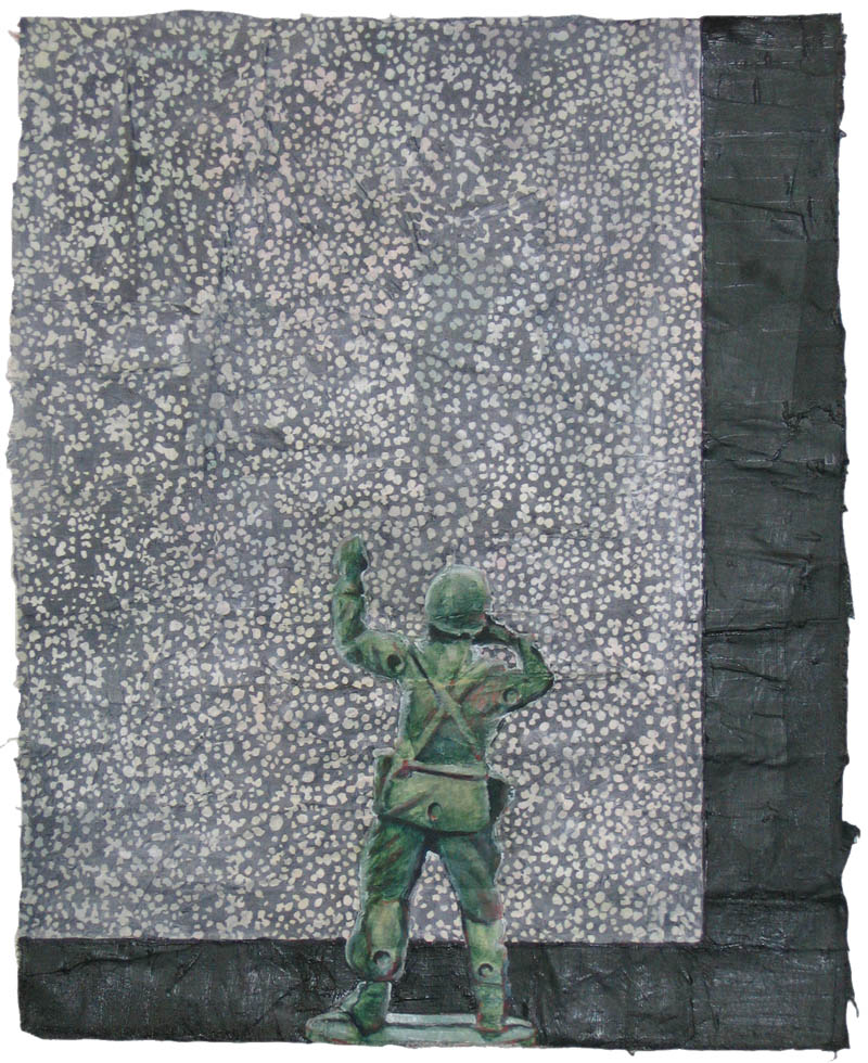 Untitled (soldier with TV)