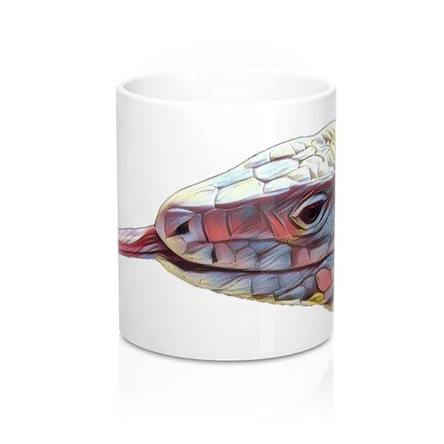 Polar Purple Tegu Lizard Design Mug 11oz, Tegu World, Tegu, White