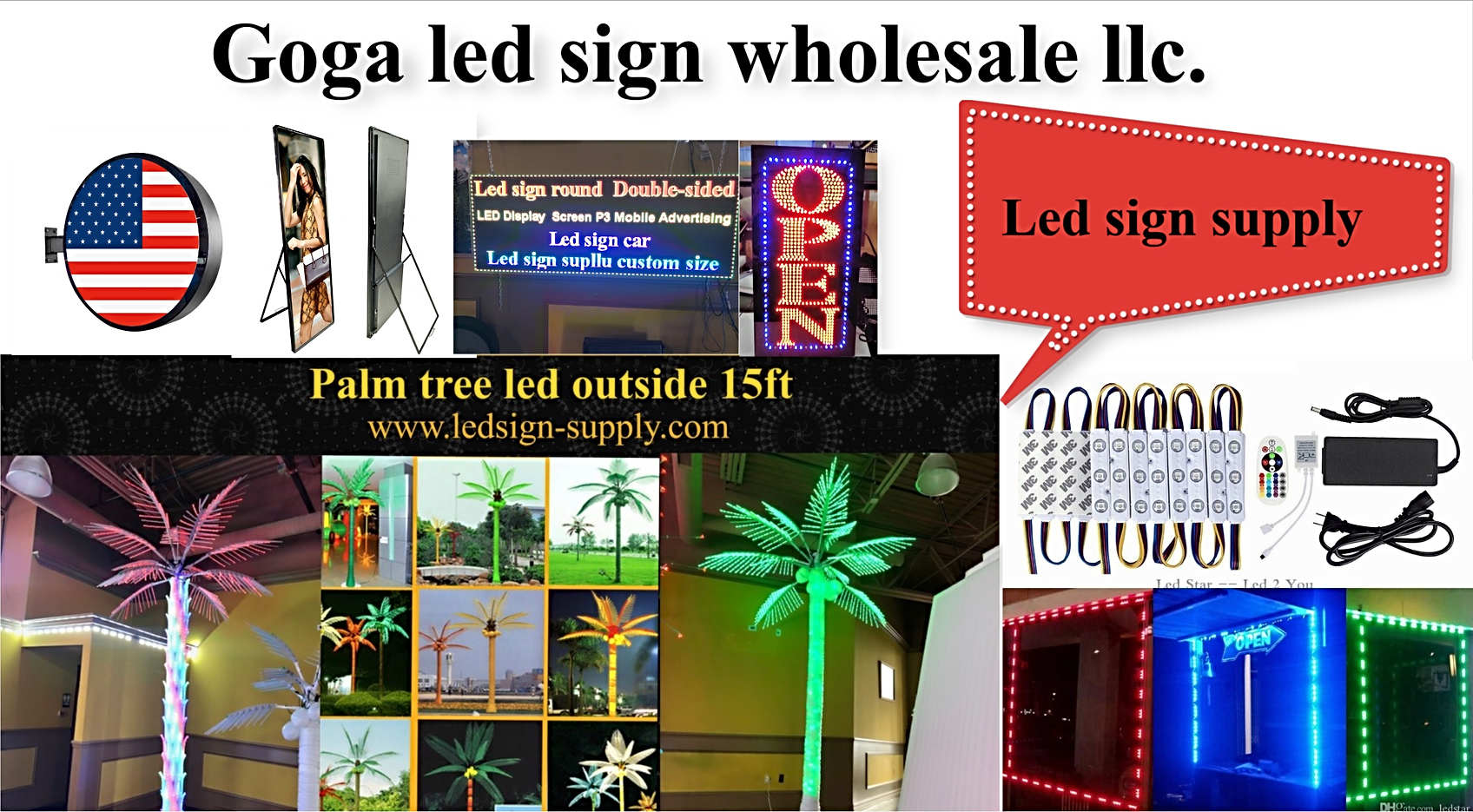 Led sign supply & trees led