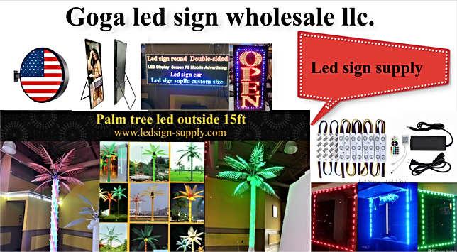 Led sign supply & trees led