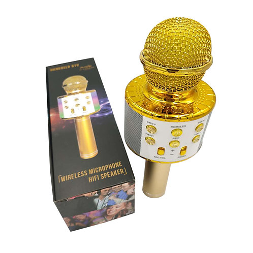 wireless microphone with led outdoor for portable karaoke