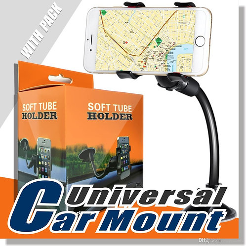 Double Clip Car Mount, Easy-To-Use Universal Long Arm/neck