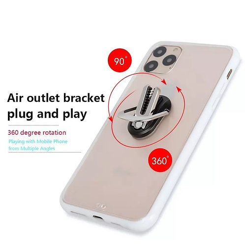 Oval shape portable 2 in 1 car air vent mount mobile phone ring & hol