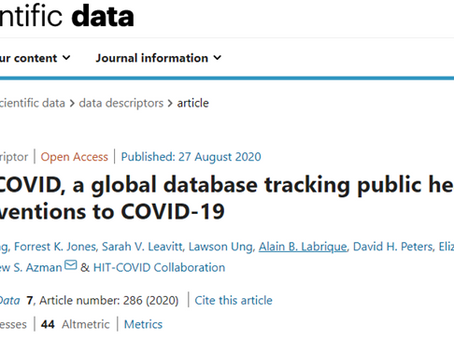 HIT-COVID team publishes paper in Scientific Data!