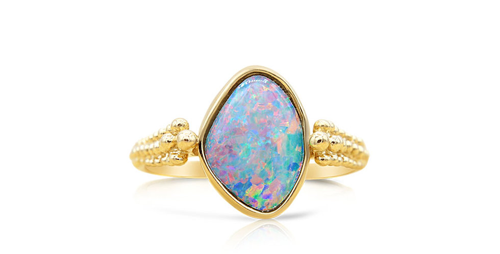 One of a Kind Opal Doublet Ring
