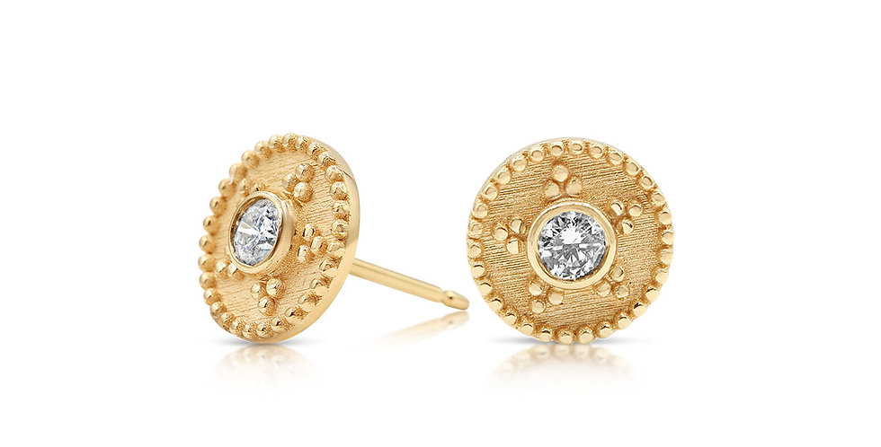 Granulation Diamond Earrings