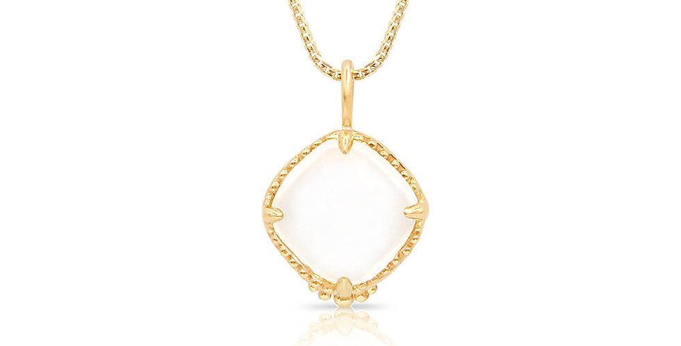 Golden Crystal Quartz Necklace