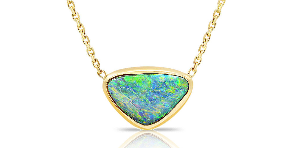 One of a Kind Lightning Ridge Opal Necklace