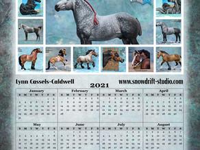 FREE 2021 Snowdrift Studio Printable Calendar!