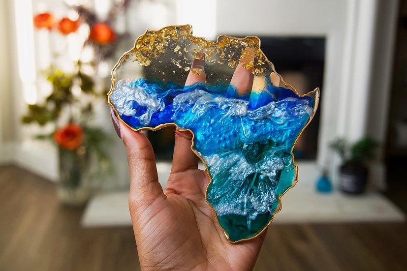 Paradise Blue Africa Coasters