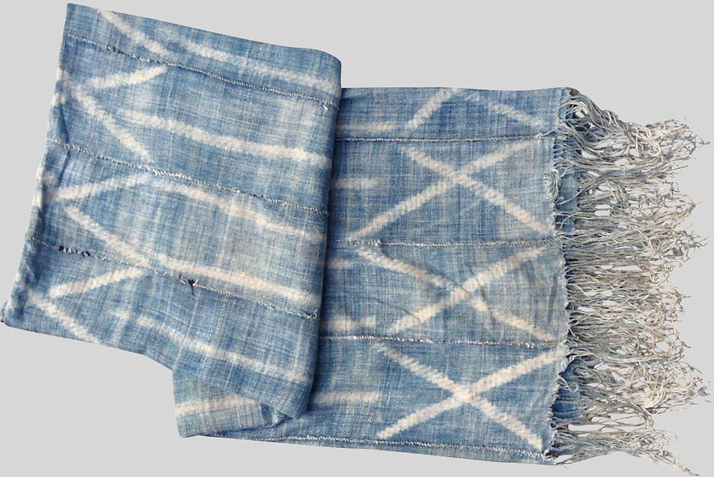 Indigo textile rain sky home