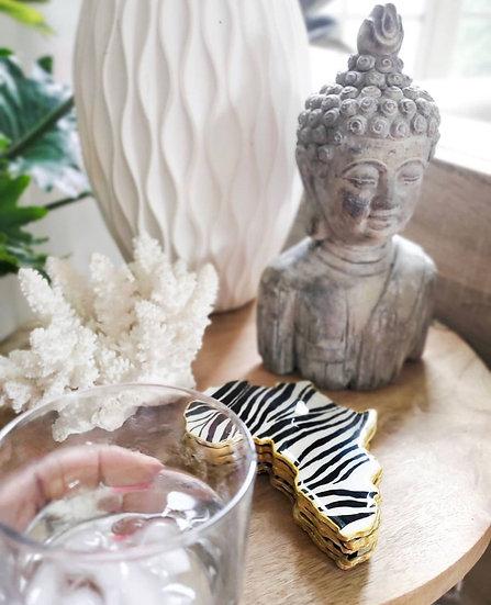Zebra Print Africa Coasters
