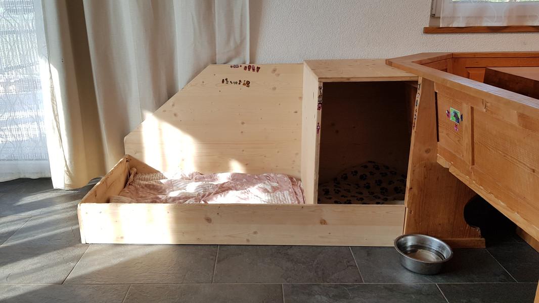 Hundeplatz im Wohnzimmer