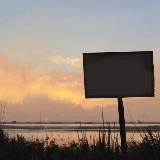 Sunset in Khobar | Digital Landscape Painting Time-lapse Video